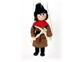 Dřevěná loutka - hračka ze dřeva - Hradní střelec