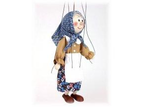 Dřevěná loutka - hračka ze dřeva - Babička