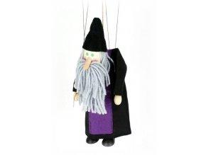 Dřevěná loutka - hračka ze dřeva - Černokněžník
