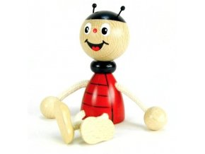 Sedací figurka hračka ze dřeva - Beruška