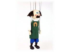 Dřevěná loutka - hračka ze dřeva - Kovář