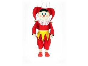 Dřevěná loutka - hračka ze dřeva - Kašpárek žlutý pásek