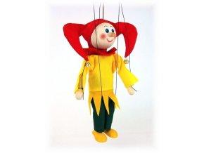 Dřevěná loutka - hračka ze dřeva - Středověký kašpar