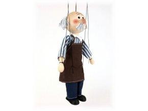 Dřevěná loutka - hračka ze dřeva - Gepeto