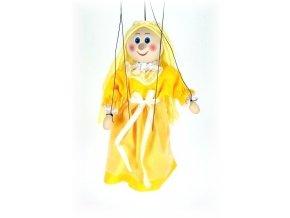 Dřevěná loutka - hračka ze dřeva - Zlatovláska