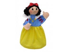Maňásek - Sněhurka s čelenkou a mašlí - hračka z textilu