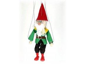 Dřevěná loutka - hračka ze dřeva - Trpaslík Prófa