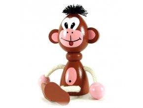 Sedací figurka hračka ze dřeva - Opice