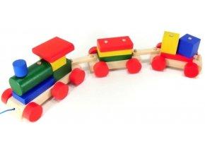 Vlak 2 vagony hračka ze dřeva  Leopold