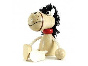 Sedací figurka hračka ze dřeva - Liška