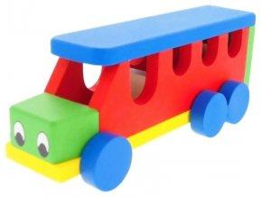 Autobus hračka ze dřeva