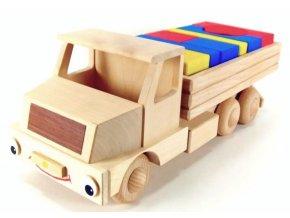 Veselý kamion velký hračka ze dřeva