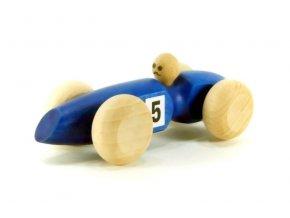 Závodní auto malé hračka ze dřeva - modré