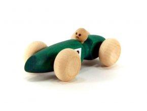 Závodní auto malé  hračka ze dřeva - zelené