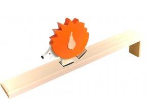 Chodící hračka ze dřeva - Ježek barevný