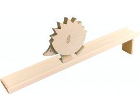 Chodící hračka ze dřeva -  Ježek natur