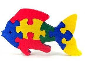 Puzzle hračka ze dřeva - Rybka
