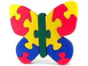 Puzzle hračka ze dřeva - Motýl