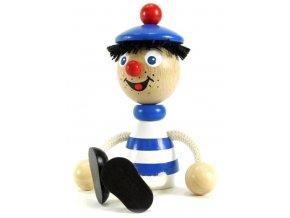 Sedací figurka hračka ze dřeva - Námořník