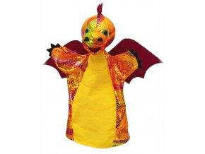 Maňásek - Drak vínový - hračka z textilu