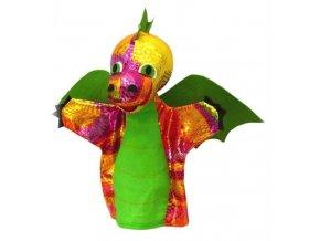Maňásek - Drak zelený - hračka z textilu