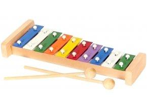 Xylofon 10 tónů hračka ze dřeva