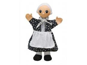 Maňásek - Babička se zástěrou - hračka z textilu