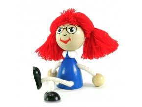 Sedací figurka hračka ze dřeva - Mánička