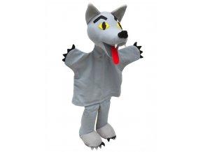 Maňásek - Vlk se žlutýma očima - hračka z textilu