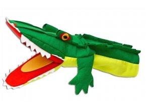 Maňásek - klapací Krokodýl - hračka z textilu
