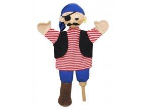 Maňásek - Pirát Jim - hračka z textilu