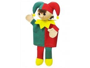 Maňásek - Till žlutý límec - hračka z textilu