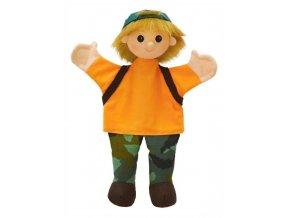 Maňásek - Školák Boris - hračka z textilu