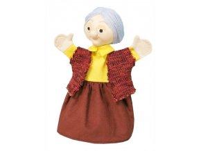 Maňásek - Babička Libuška - hračka z textilu