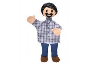Maňásek - Táta Dalibor - hračka z textilu