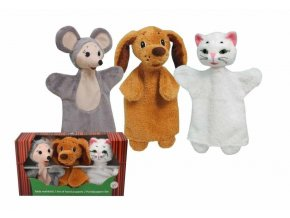 Krabička maňásků - Zvířátka 2 - hračka z textilu