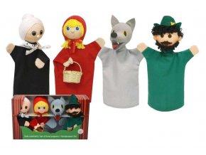 Krabička maňásků - Červená Karkulka - hračka z textilu