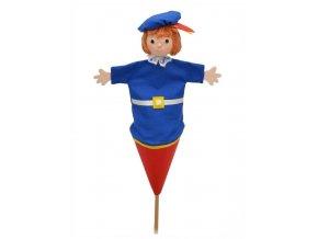 Střední kornoutový maňásek - Princ Marcel - hračka z textilu