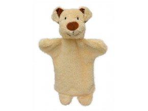 Maňásek - Pejsek béžový - hračka z textilu