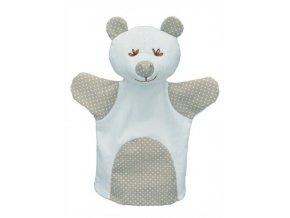 Maňásek pro nejmenší - Medvěd puntík - hračka z textilu