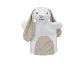 Maňásek pro nejmenší - Králík puntík - hračka z textilu