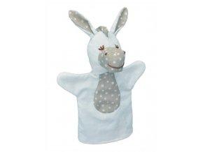 Maňásek pro nejmenší - Oslík kytičky - hračka z textilu
