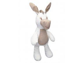 Maňásek pro nejmenší - Oslík šustící - hračka z textilu
