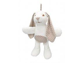 Maňásek pro nejmenší - Králík šustící - hračka z textilu