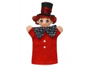 Maňásek - Kloboučník - hračka z textilu