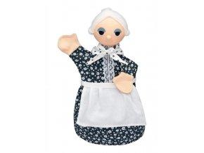 Maňásek - Babička - hračka z textilu