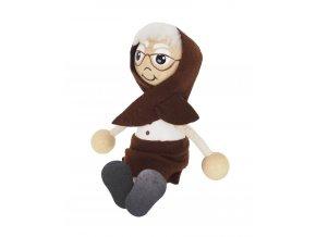 40190 dřevěná sedací figurka babička