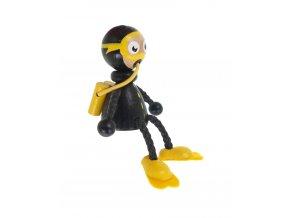 50966 dřevěná sedací figurka potápěč