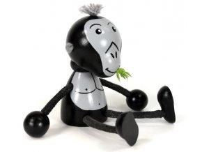 Sedací figurka hračka ze dřeva - Gorila