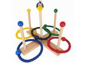 44085 Dřevěné házecí kroužky dětská hra (1)
